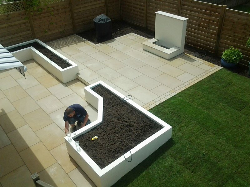 Natural stone paving and porcelain paving North Wales
